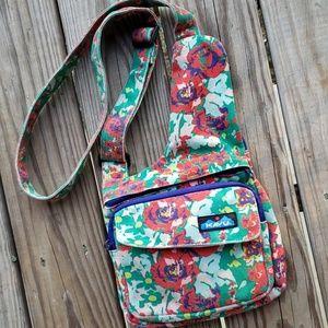 Kavu Crossbody Canvas Bag Purse Floral